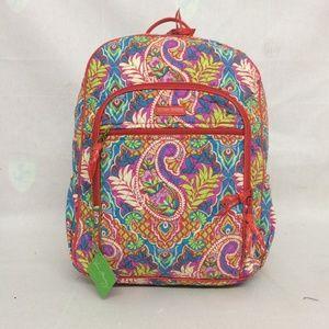 NWT Vera Bradley Campus Backpack Paisley in Paradi